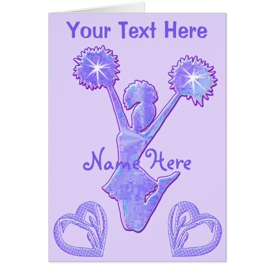 BIG Personalised Cheerleader Card with Your Text