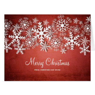 Big personalised Christmas card with snowflakes