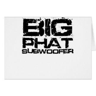 Big Phat Subwoofer Dubstep Greeting Card