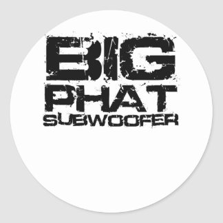 Big Phat Subwoofer Dubstep Classic Round Sticker