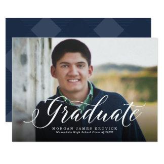 Big picture graduation announcement