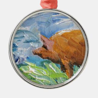 Big Pig gift Christmas Ornament