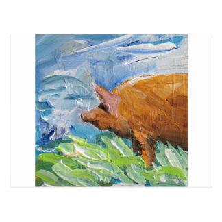 Big Pig gift Post Cards