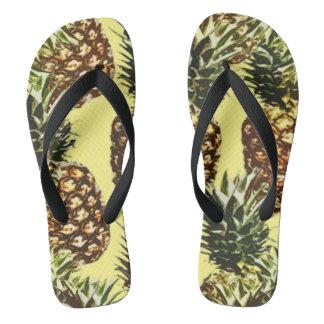 big pineapples flip flops