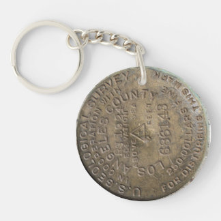 Big Pines CA USGS Benchmark Key Ring