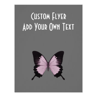 Big Pink Black Butterfly - Personalize Flyer Design