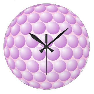 Big Pink Bubbles Wall Clock