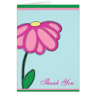Big Pink Flower of thanks Note Card