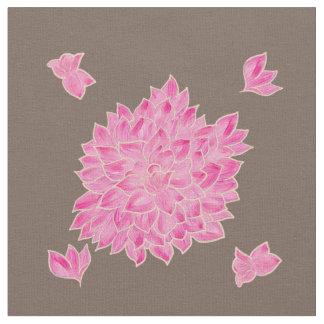 Big pink flowers fabric