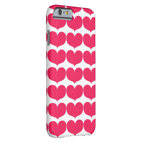 Big Pink Heart iPhone 6/6s Barely There Phone