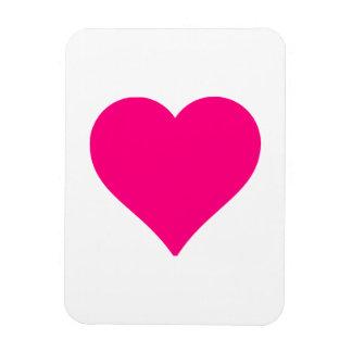 Big Pink Heart Rectangle Magnet