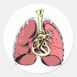 Big Pink Lungs Round Sticker