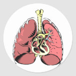 Big Pink Lungs Stickers