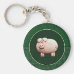 Big Pink Pig Key Chains