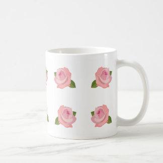 Big Pink Roses Pattern Coffee Mug