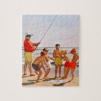 Big Pole Little Fish by Richard Sargent Jigsaw Puzzle