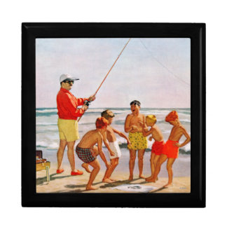 Big Pole Little Fish by Richard Sargent Large Square Gift Box