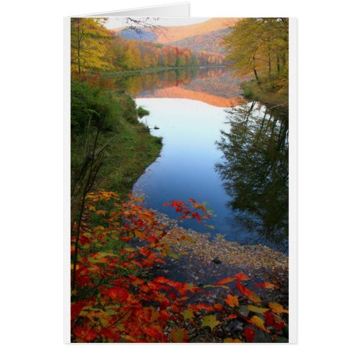 Big Pond Catskills Autumn Paradise Cards