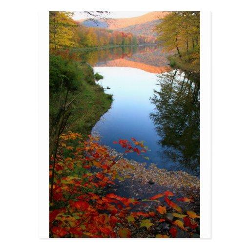 Big Pond Catskills Autumn Paradise Post Card