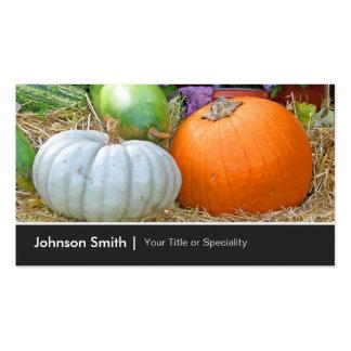 Big Pumpkins Autumn Happy Harvest Farmer Business Card