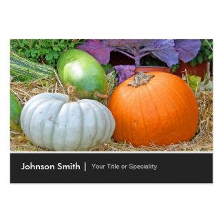 Big Pumpkins Autumn Happy Harvest Farmer Business Card Templates