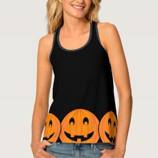 Big Pumpkins on Black Background Halloween Tank Tank Top