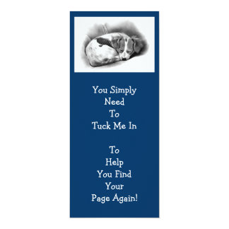 BIG PUPPY BOOKMARK FOR KIDS 10 CM X 24 CM INVITATION CARD