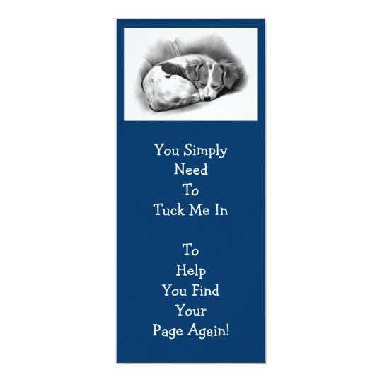 BIG PUPPY BOOKMARK FOR KIDS CARD