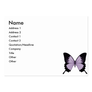 Big Purple & Black Butterfly Business Cards