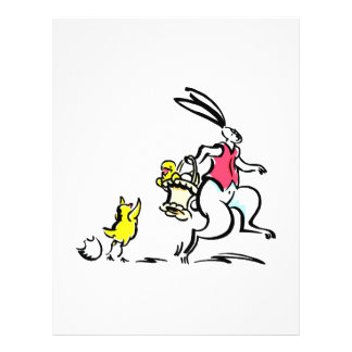 big rabbit hopping carrying basket and chick png flyer