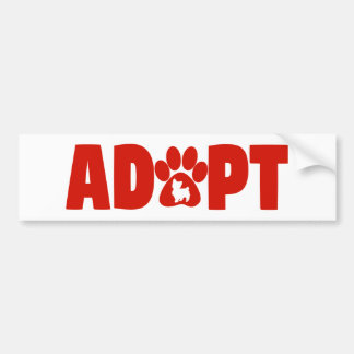 Big Red Adopt Bumper Sticker
