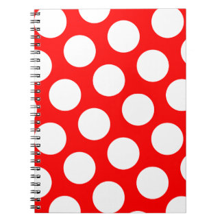 Big Red and White Polka Dots Notebooks