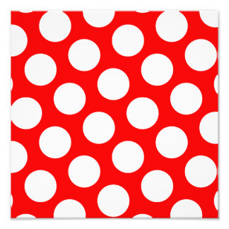 Big Red and White Polka Dots Photo Print