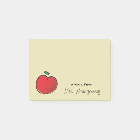Big Red Apple Personalised Post-it Notes