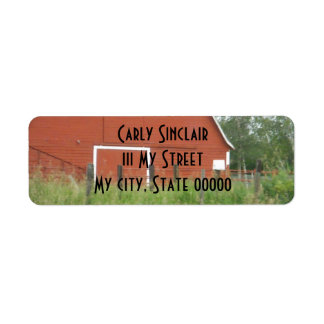 Big Red Barn Return Address Label