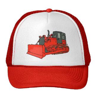 Big Red Bulldozer Trucker Hats