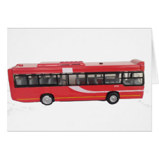 Big Red Bus Greeting Card