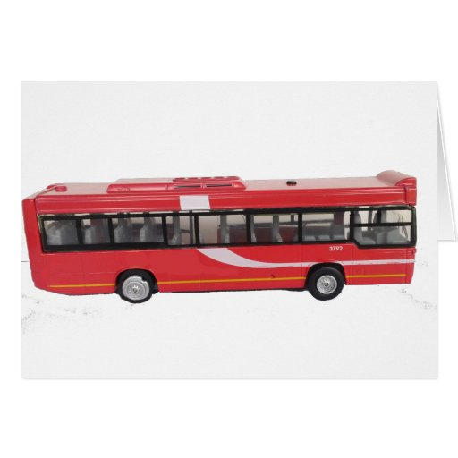 Big Red Bus Greeting Card