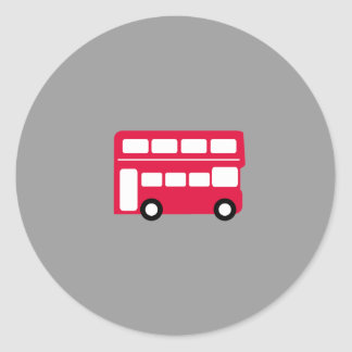 Big Red Bus Classic Round Sticker