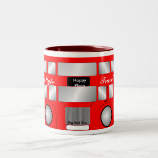Big Red Bus Two-Tone Coffee Mug
