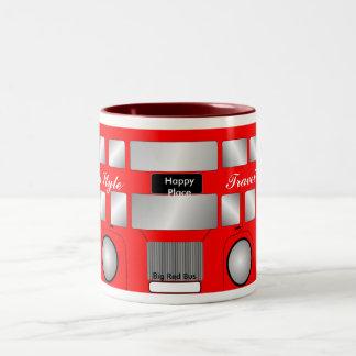 Big Red Bus Two-Tone Coffee Mug