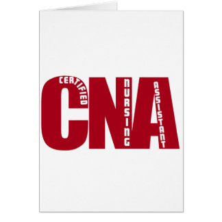 BIG RED CNA - CERTIFIED NURSING ASSISTANT GREETING CARDS