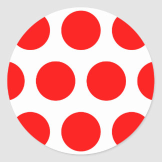 Big Red Dots Classic Round Sticker