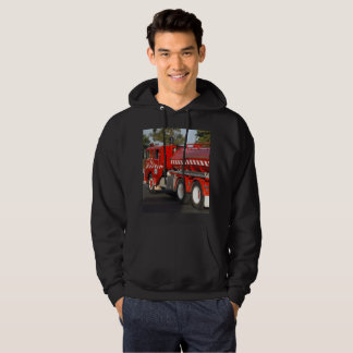Big_Red_Fire_Engine,_Mens_Black_Hooded_Sweatshirt Hoodie