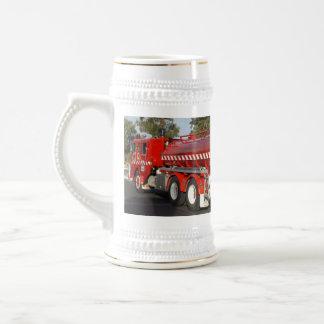 Big_Red_Fire_Engine_White_Beer_Stein_Mug. Beer Stein