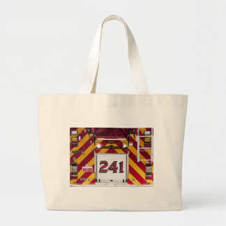 Big Red Fire Truck Canvas Bag