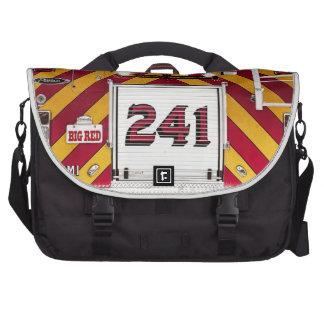 Big Red Fire Truck Laptop Bags