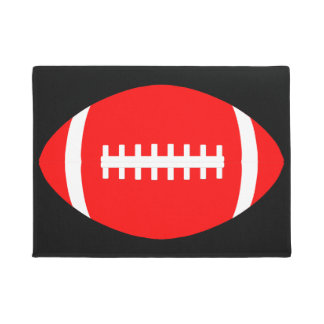 Big Red Football Door Mat for Home or Fieldhouse