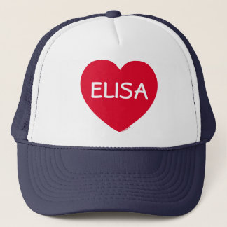 Big Red Heart Customizable Hat
