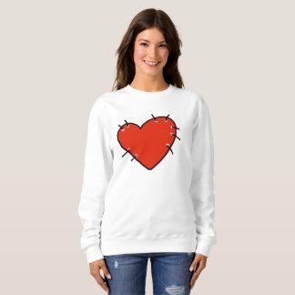 Big Red Heart Women's Basic Sweatshirt